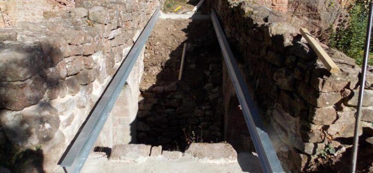 Pose de la passerelle du Rathsamhausen -1e étape